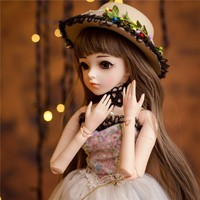 1/3 BJD Girl Doll High Quality Handmade Dress With Outfit Shoes Wig Hat Makeup 60cm BJD/SD Dolls Silicone Reborn BJD Dolls Toys