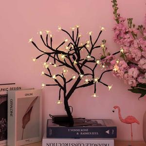 Image 5 - Nouveau 24/36/48 leds cerisier fleur arbre décoratif lumières cerisier fleur ordinateur de bureau lampe pour la maison Festival fête mariage noël