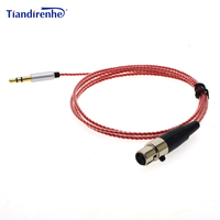 TD91 Upgraded Cable For AKG K240 K271 K702 K712 Q701KL Headphone 3 5mm Replacement Silver Plated