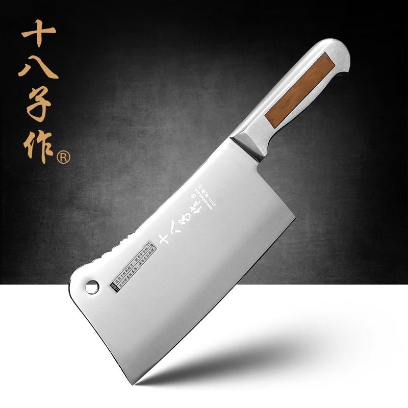 SHIBAZI S601 Supérieure Qualité 7-inch Acier Inoxydable Heavy Duty Couperet Chinois-Cuisine Couteau pour Découper et À Trancher