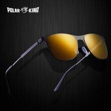 POLARKING Brand Vintage Classic Unisex Sunglasses Men Square Metal Without Screw
