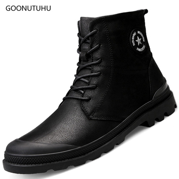 2019 new style winter men's boots snow work shoes genuine leather ankle boot shoe man waterproof tactical military boots for men
