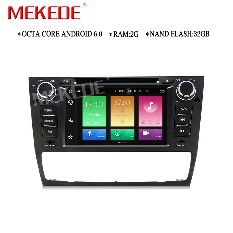 2G RAM 32G ROM Car radio Stereo for <font><b>E90</b></font> E91 E92 E93 Android 6.0 with Wifi GPS <font><b>Bluetooth</b></font> DVD SD Canbus BT support OBD2 DVR DAB+