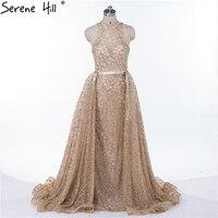 Gold Glitter Ballkleid Abendkleider 2018 Neue Design Sexy Sheer O-ansatz Formales Kleid-partei-kleid Robe De Soiree Natürlich bilder