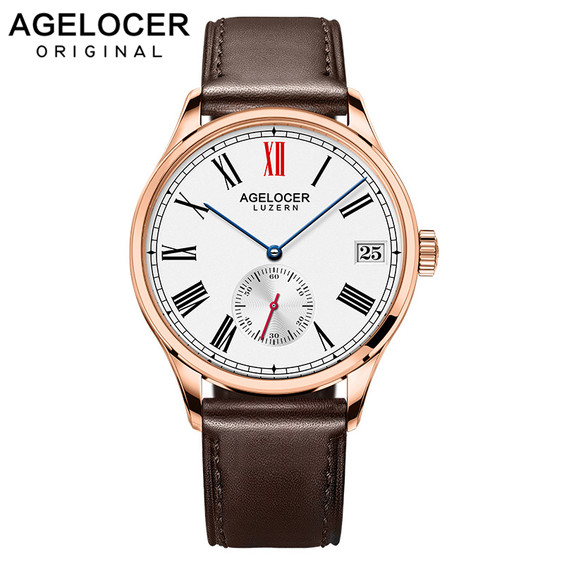 Agelcoer Swizerland Luzern Gold Watch Wristwatch Gift For Men Luxury Brand Male Fashion Dress Watches Time Hours Relogio ClockAgelcoer Swizerland Luzern Gold Watch Wristwatch Gift For Men Luxury Brand Male Fashion Dress Watches Time Hours Relogio Clock