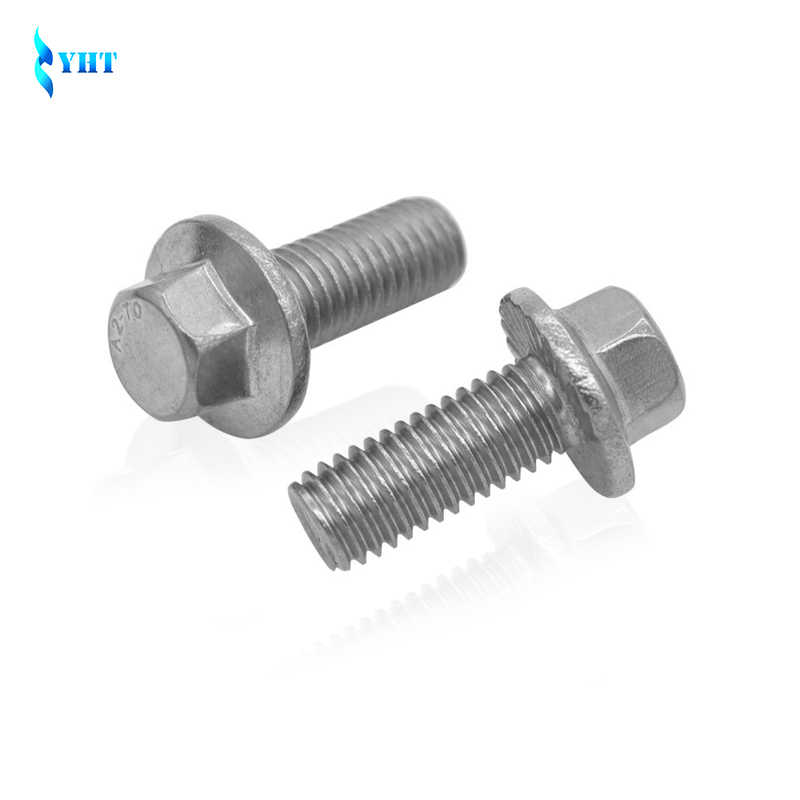 M5 M6 M8 M10 Flanged Hex Bolts Screw 304 Stainless Steel Flange Hexagon Bolts