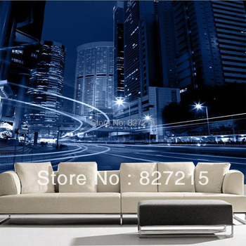 3D-0534/New Fashion Wall Decoration Material/PVC Material /Stretch Film/Beautiful Night Scene/Function as Wall Paper/Sustainable