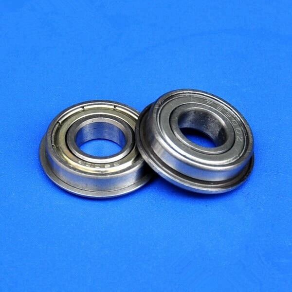 100pcs/lot   F687ZZ  Flanged bearing  F687 F687-2Z shielded Miniature flange deep groove ball bearings 7*14*5 mm