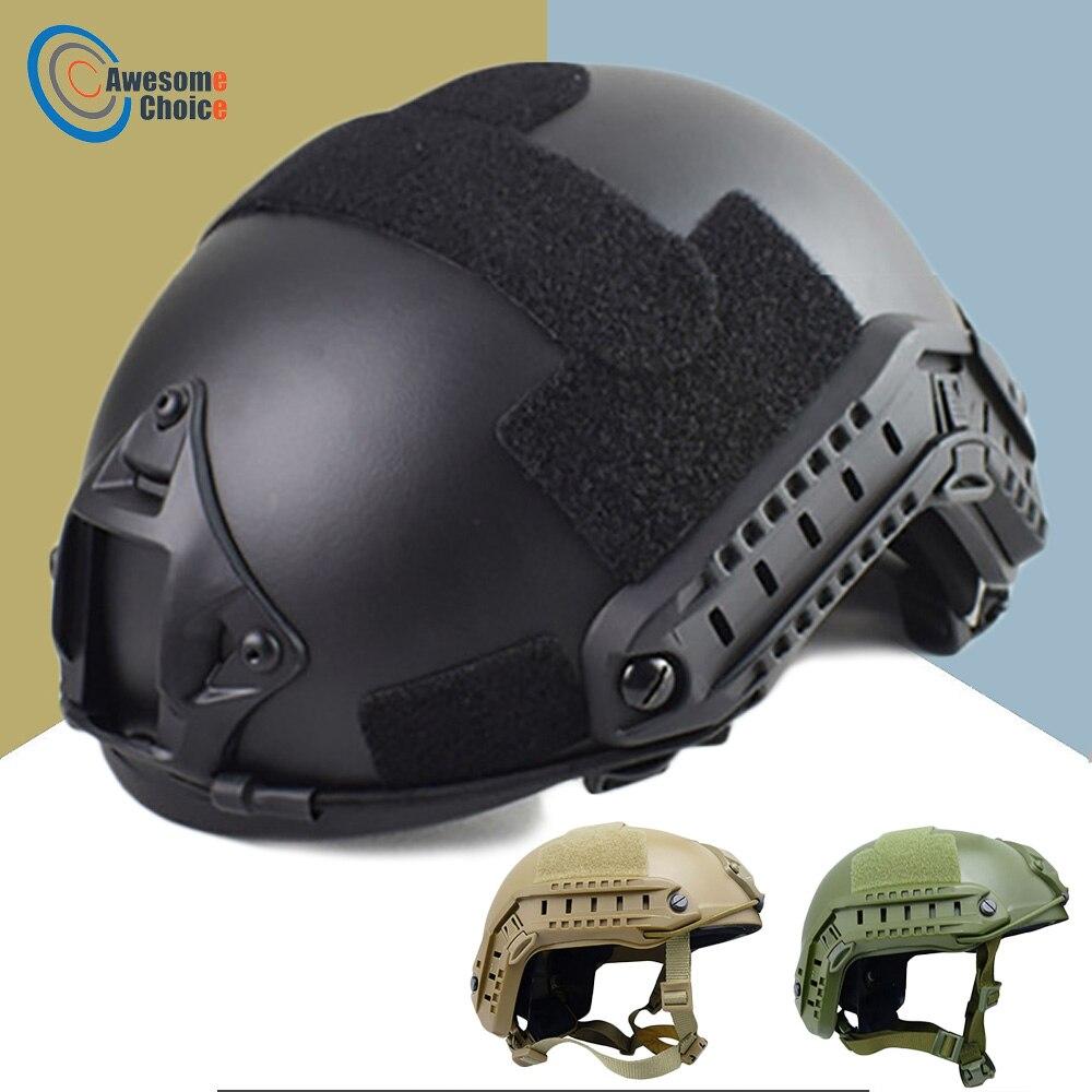 Calidad militar Casco táctico rápido PJ cubierta de Casco Airsoft Casco deportes accesorios Paintball rápido salto de protección