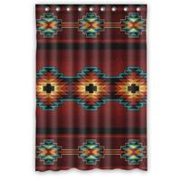48(W)x72(H) Inch Southwest Native American New Waterproof Polyester Curtain (Shower Rings Included)