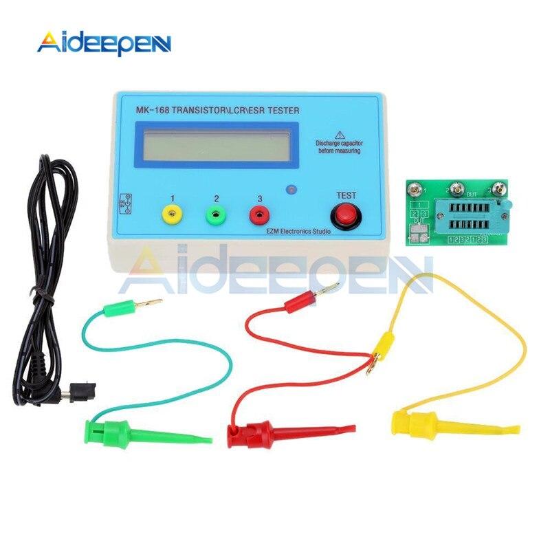 MK-168 Transistor Tester Measuring Resistance Capacitor Inductance Voltage MOSFET LCR NPN PNP Bipolar Transistors
