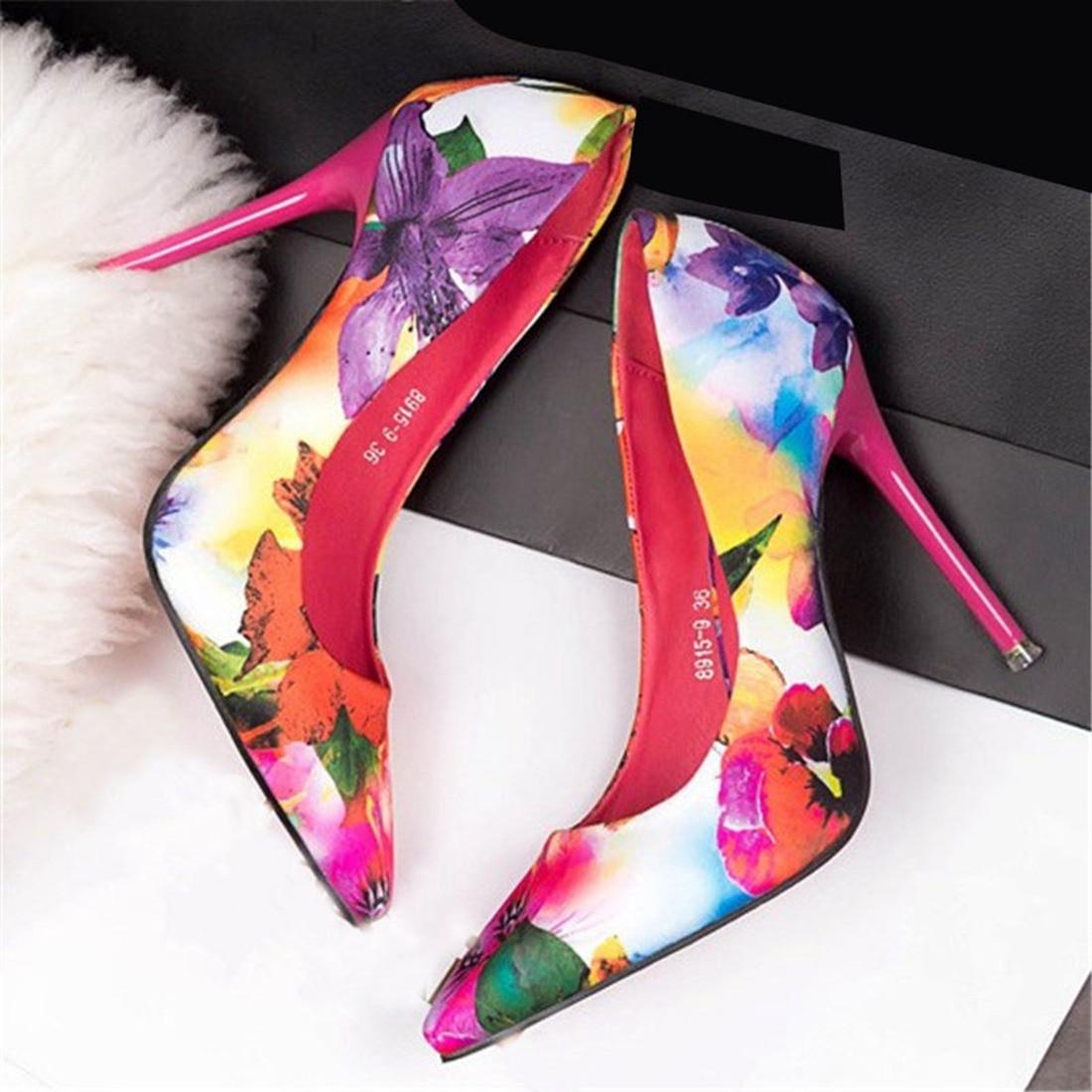 rose Mode Nightclub Stiletto Chaussures Fleur Flore Pompes Bleu Talons En De Mariage Sexy Bout Daim Hauts Femmes Pointu À xRfqwaUZ0R