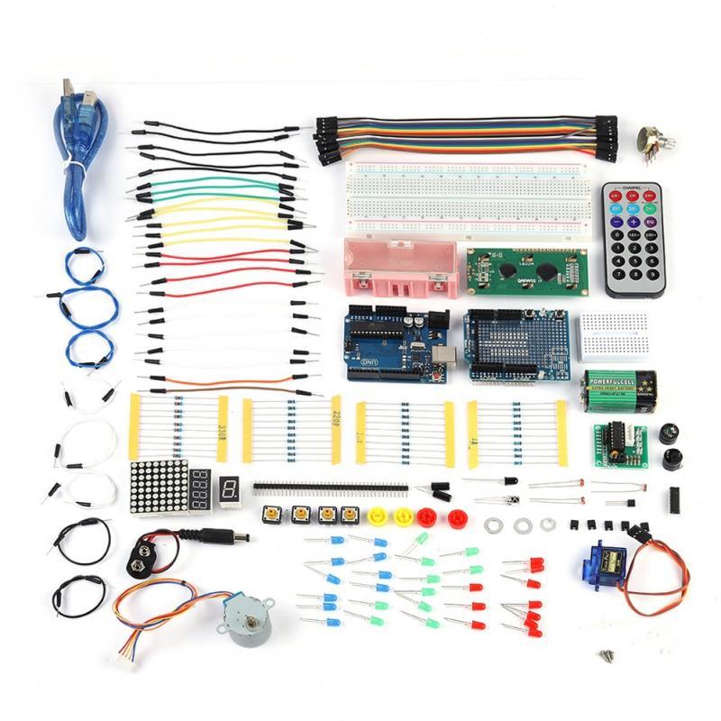 DIY Amélioré De Base Starter Kit pour Arduino UNO R3 Starter Apprentissage Ensemble Capteurs Pièces Expérience