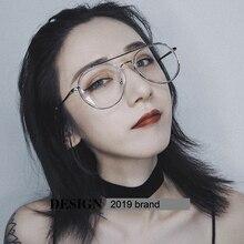 Feishini Pink korea Fake Glasses Computer Women Vintage Metal Pattern Leg Design Eyewear Men Eyeglasses Clear Lens Transparent