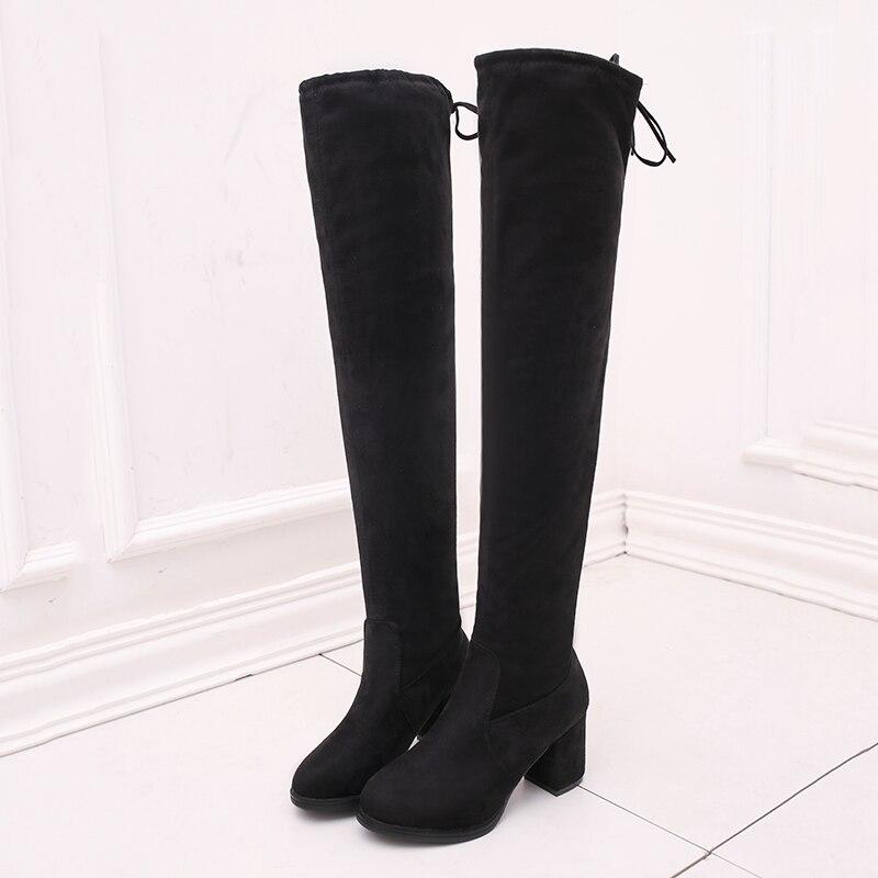 A black Chaud Flock 2018 Le Femme Hiver Mode Simple Tête W24 Épais Black Confortable B Nouvelle Bottes Sexy Avec Plus Ronde Coton awHFRq