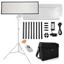 Travor FL-3090 1x3' 30x90cm luz do dia painel de luz led 5500 k luz de fotografia regulável com pano macio controle remoto e saco