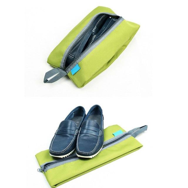 Portable Waterproof Travel Shoe Bag Nylon Foldable Storage Organizer 3