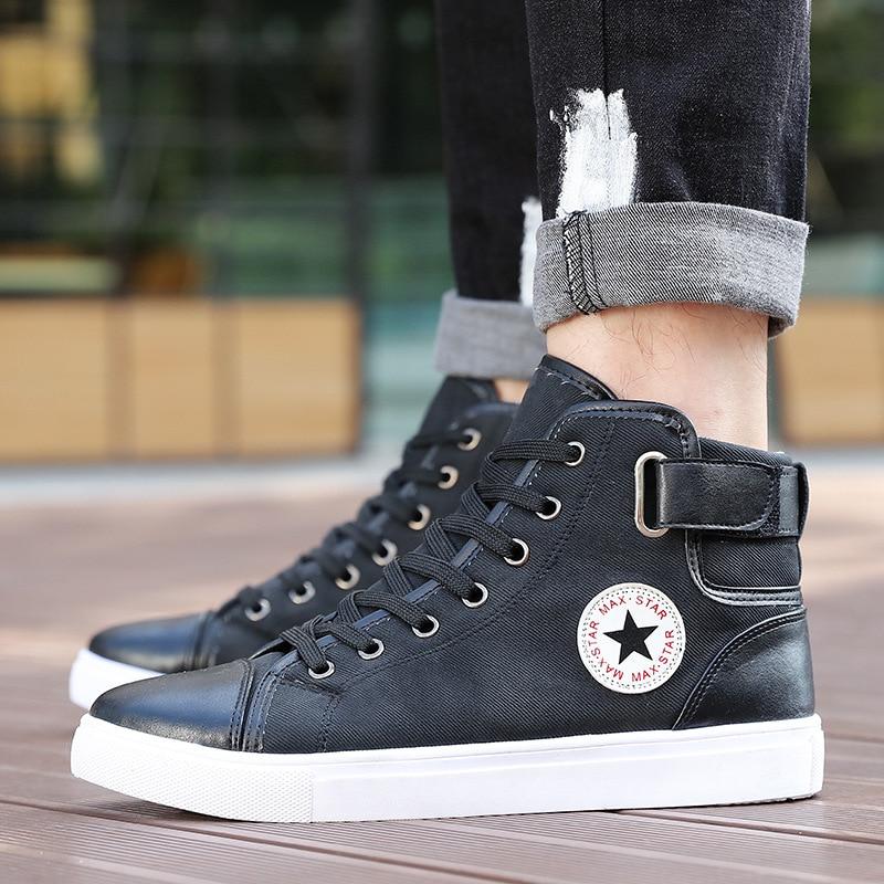 Casual Jookrrix Hommes bleu Mode Blanc Automne Loisirs 2018 kaki High Sneaker Chaussures Noir Kaki Noir Chaussure Lacent Top rXSvqraw