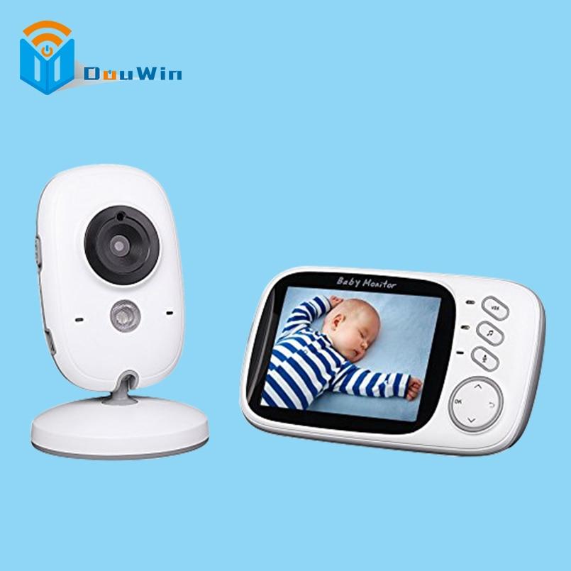 Baby Monitor 2 Way Audio 2.4Ghz Wireless 3.2 inch Electronica Wireless  5M IR Temperature Lullabies Portable Baby Camera DouWin fpv 1 2ghz 100mw 4ch wireless audio