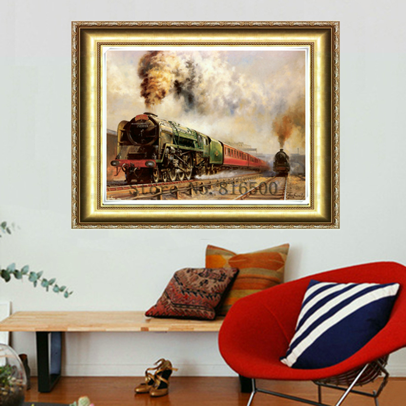DIY Diamond Painting Paste 3d Cross Stitch Suite Train Mural Hobby Handcrafts Pictures As A Present Diamond Embroidery Cube 5d
