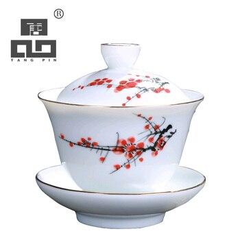 TANGPIN ceramic teapot kettle gaiwan handpainted teacup porcelain chinese kung fu tea sets tangpin coffee and tea tool alloy tea strainers handmade metal kung fu tea accessories sets