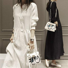 Autumn Maternity Clothes Women Cotton Casual Loose Dresses Long Sleeve Shirt Dresses Vestidos Plus Size Pregnant Dress CE800