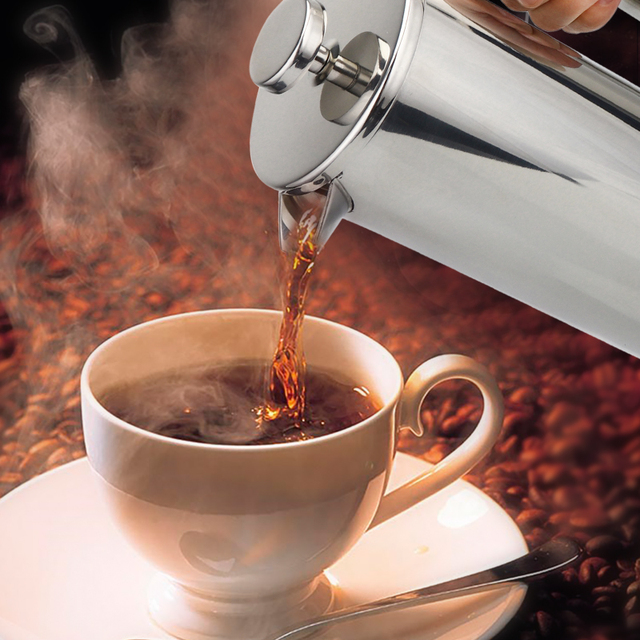 Stainless Steel French Press Coffee Maker 6