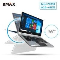 KMAX 11,6 дюймов оконные рамы 10 планшеты PC ноутбук Z8350 2 в 1 тетрадь FHD ips сенсорный экран HDMI USB 4 Гб 64 Йога 360 rotable мышь