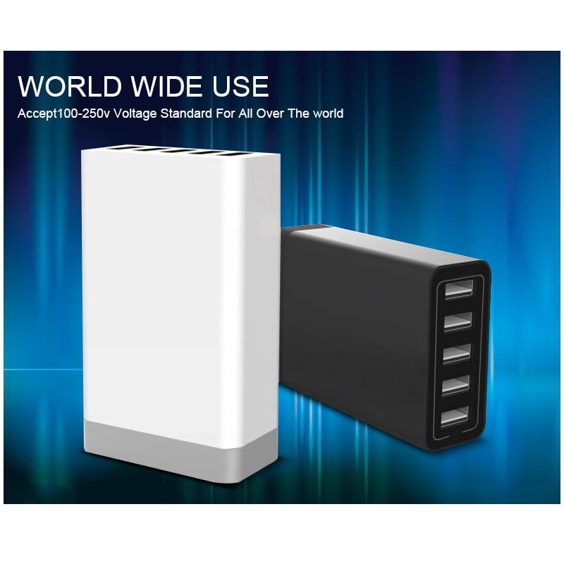 Universal Smart Charger 5 USB Ports US EU UK AU Plug AC Power Adapter Socket For iPhone Samsung Fast EU/AU/UK/US