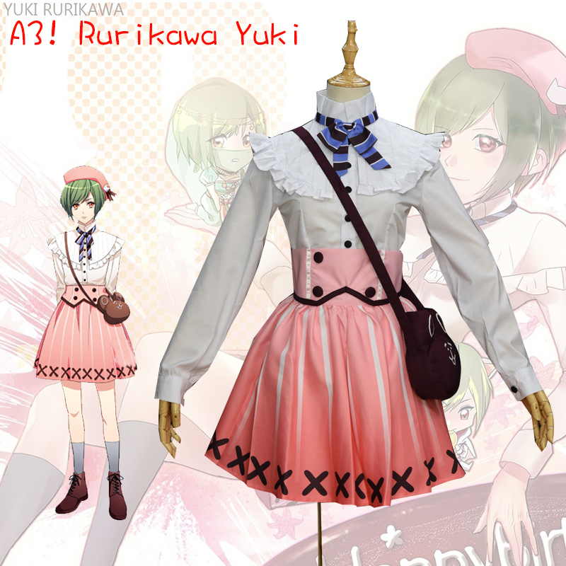 2017 Fashion Game A3 Summer Group Rurikawa Yuki Cosplay Costume Halloween Lolita font b Skirt b