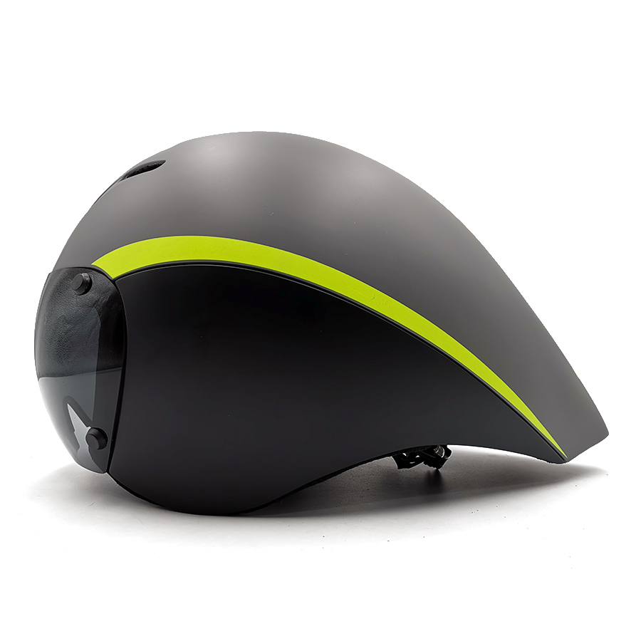 MTB helmet aero bicycle helmet with lens Triathlon tt tri goggles Race road cycling timetrial Bike