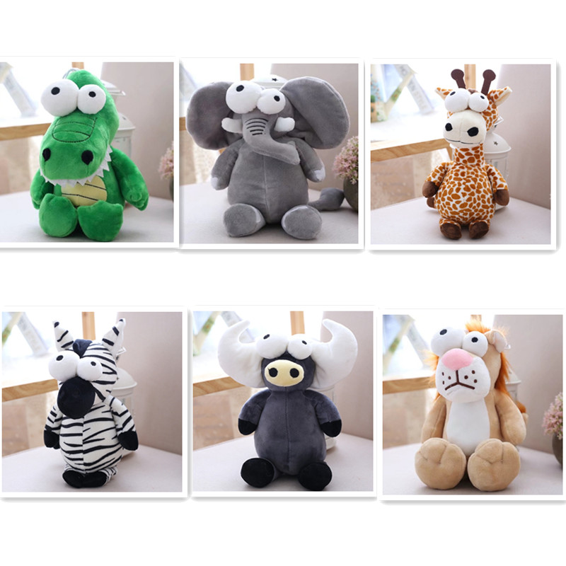 Big Eye Animal Plush Toys Forest Series Doll Giraffe Cute Dolls Send Child Birthday Gift
