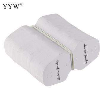 100PCs/Bag 30x70mm Paper Necklace Card Tag Wholesale Jewelry Display White Custom Printing Lable Price Tags Accessories