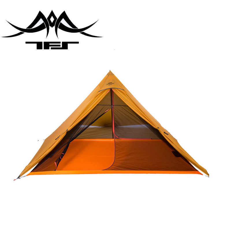 TFS(the Free Spirits)  SPIRIT 2-sided silicon Coating Pyramid Shape 2-person 4-Season  Ultralight Camping Tent with A Mat