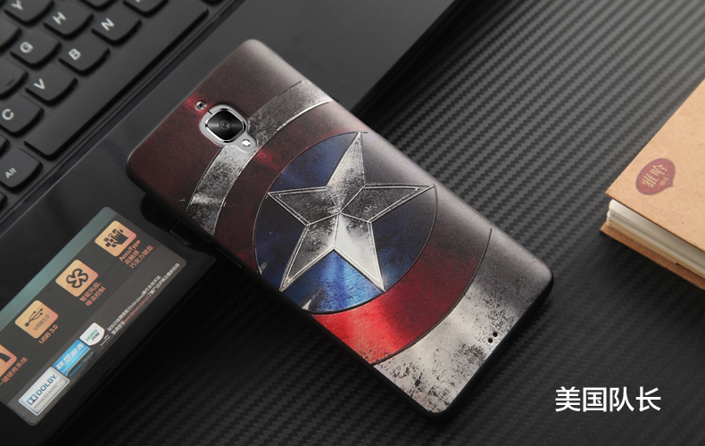 Oneplus 3 Case Oneplus 3t Cover 3D Stereo Relief Painting TPU Soft Back Covers For Oneplus3 Cases Cartoon Silicon Phone Funda