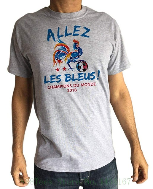 Mens Tee France Allez Les Bleus Champions Du Monde 2018 Print Ts1464 T Shirt Short Sleeve Brand In T Shirts From Men S Clothing Accessories On