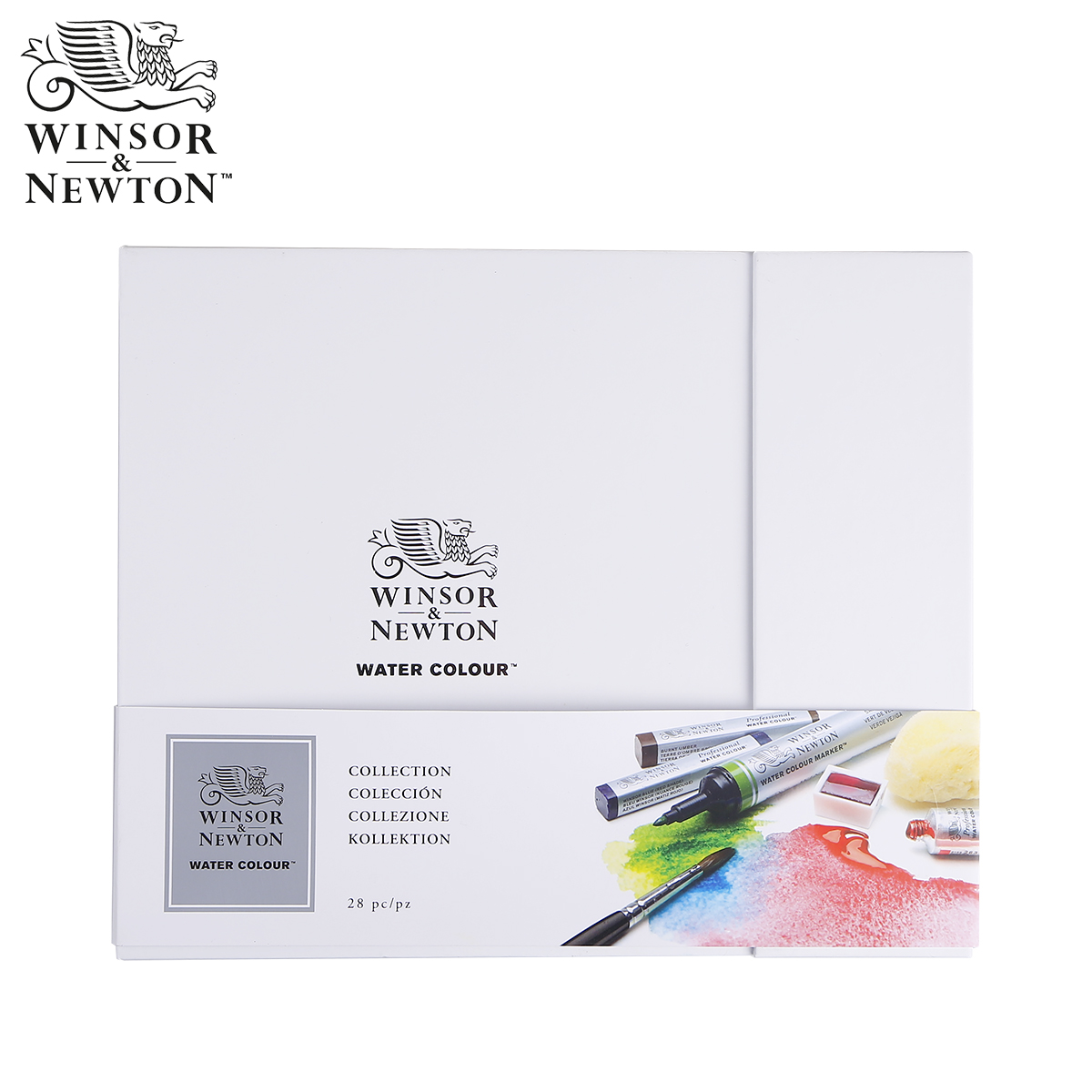Winsor Newton luxury master kit 4 Solid watercolor rods/tube/block+ 4 watercolour Marker pen+10 arches paper combination set kitcyo588750pac103637 value kit crayola pip squeaks telescoping marker tower cyo588750 and pacon riverside construction paper pac103637