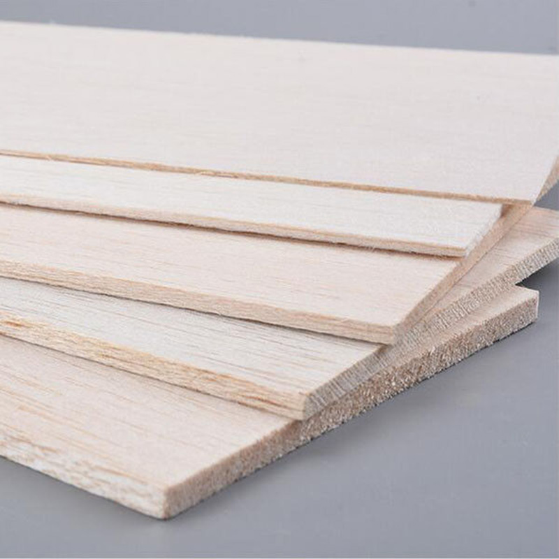 300x100mm Balsa Wood Sheets Wooden Plate Model DIY House Aircraft 1mm~8mm Thick