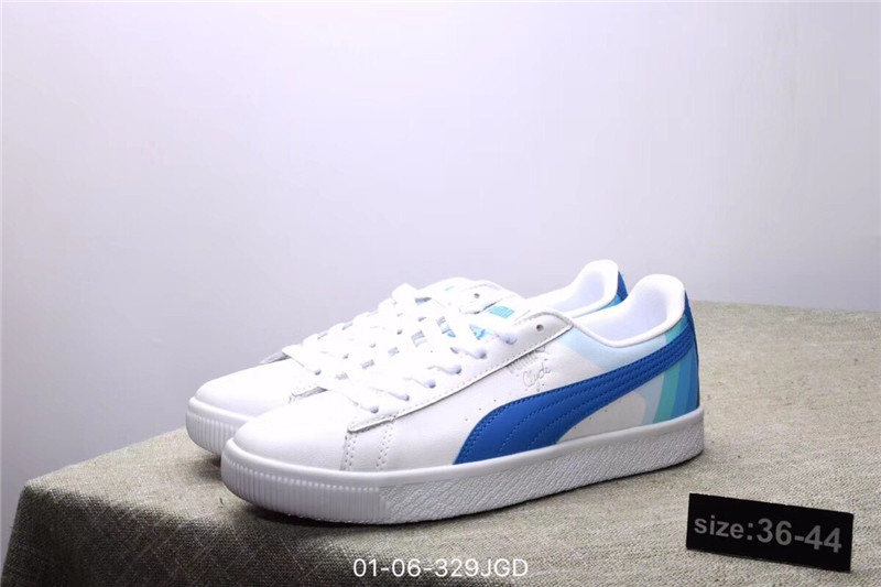 puma shoes PUMA Dolphin PUMA Clyde - Pink Dolphin Joint Shoes White Red  size36-44 b8dcb3195