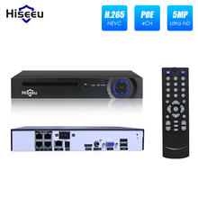 Hiseeu 4CH 8CH 4MP 5MP PoE NVR dla monitoring IP POE nadzoru H.265 48V 802.3af ONVIF CCTV NVR XMEYE aplikacji