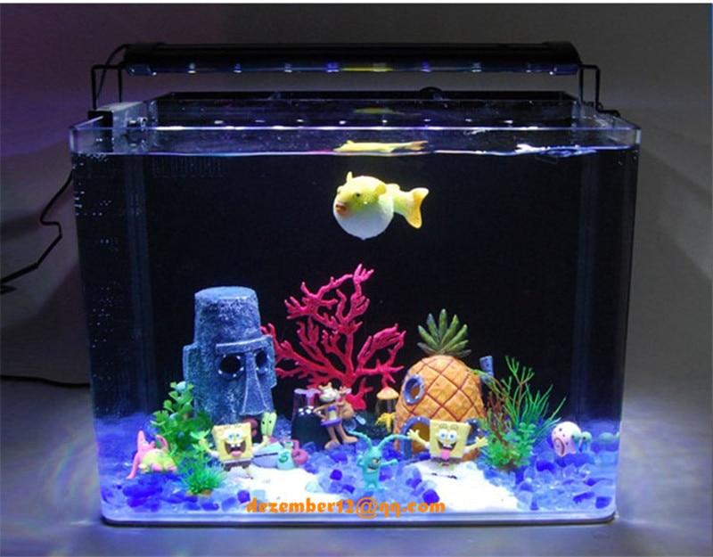 Aquarium Spongebob Figures Decoration Squidward S Patrick Star Fish Tank Landscaping Ornament Kid Gift In Decorations From Home Garden On