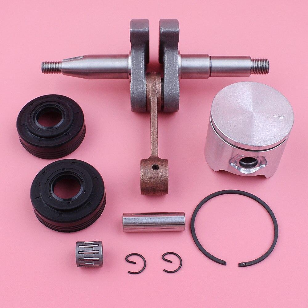 Vilebrequin 44mm anneau de Piston joint d'huile Kit de roulement à aiguilles pour Husqvarna 350 pièce de rechange de tronçonneuse