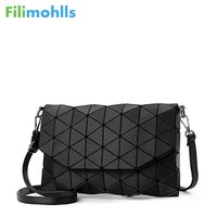 2018 New Small Solid Plaid Geometric Lingge Envelope Handbag Women Clutch Ladies Purse Crossbody Messenger Shoulder