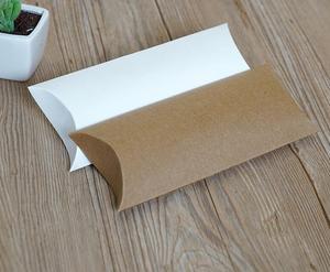 Image 1 - 30 pces travesseiro caixa de papel kraft, papelão artesanal caixa de sabão, branco ofício caixa de presente de papel, festa embalagem caixa de jóias