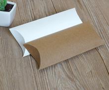 30 sztuk poduszka pudełko z papieru Kraft, karton mydło wyrabiane ręcznie pudełko, biały papier typu Kraft pudełko na prezent, impreza pudełko na biżuterię