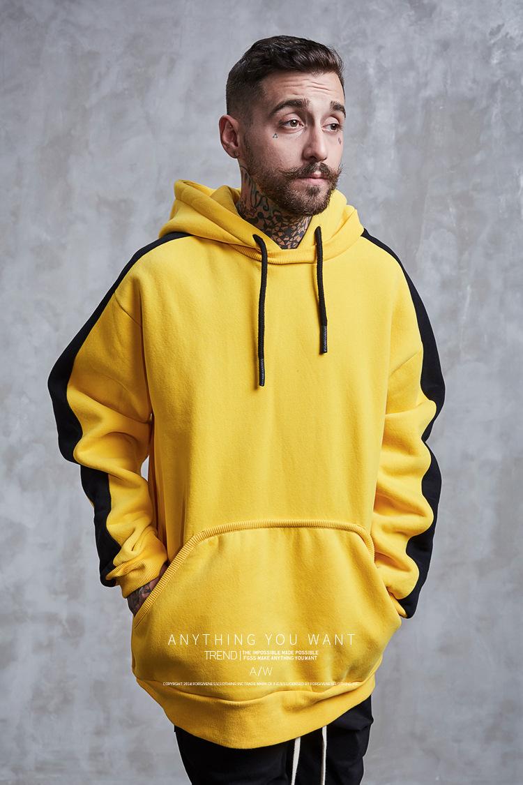 Aolamegs Hoodies Men Side Striped Hood High Street Pullover Cotton Fashion Hip Hop Streetwear Casual Big Pocket Hoodie Autumn (11)