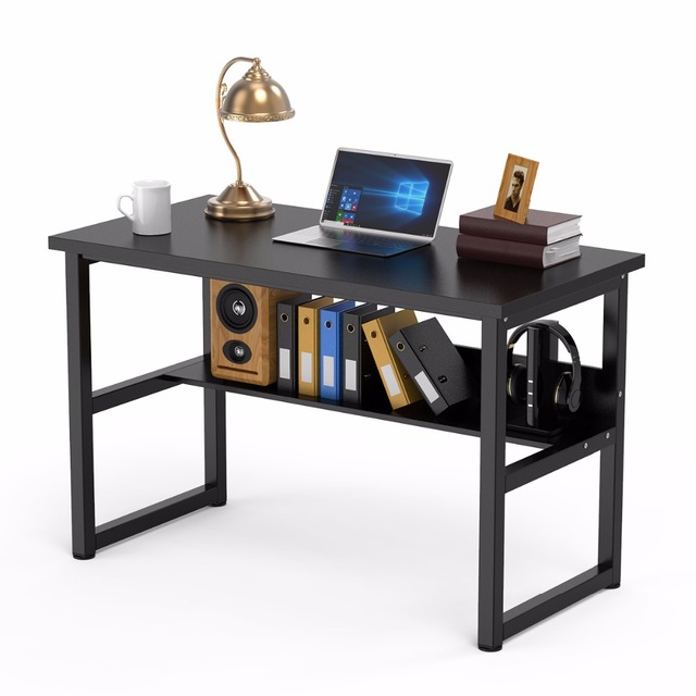47 Computer Desk With Bookshelf Office Writing Workstation 2 In 1 And Bookcase