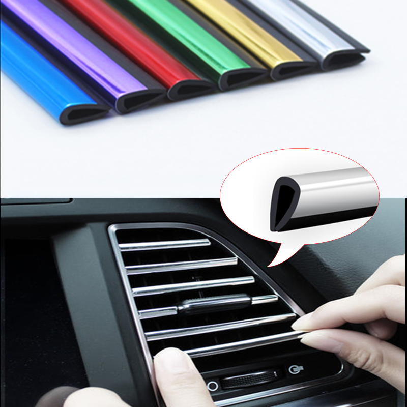 Strip Stickers-Accessories Air-Conditioner Decoration Outlet Car-Interior Vent 10pcs
