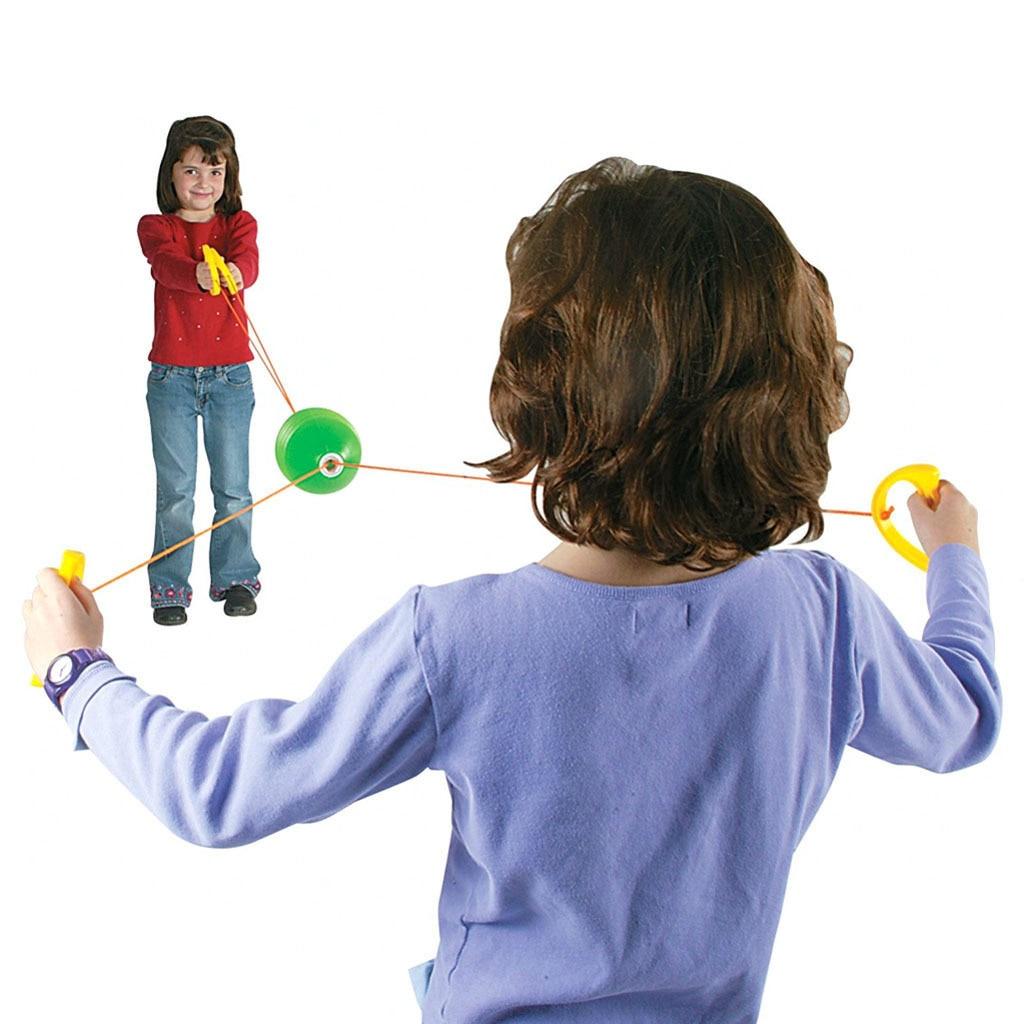 Children shuttle pull ball indoor and outdoor parent-child interaction fun sports kindergarten training toys for children gift