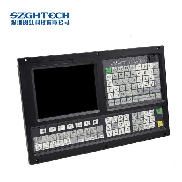 Faible coût avec interface USB il prend en charge le fonctionnement des fichiers dans le disque flash, la configuration du système plc + ATC 4 axes kit cnc contrôleur de tour